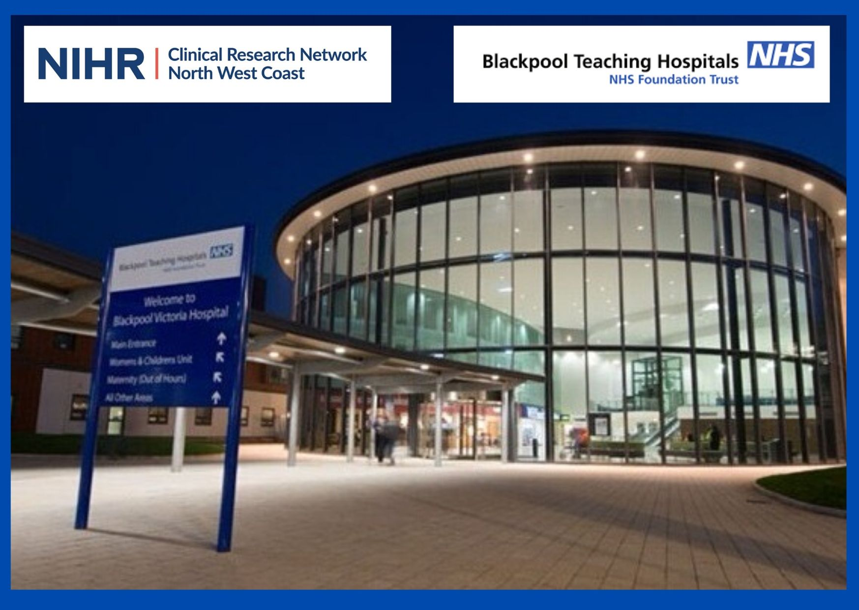 Blackpool Teaching Hospitals NHS Foundation Trust to receive funding from the Department of Health and Social Care for a Patient Recruitment Centre
